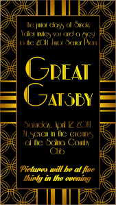 Great Gatsby Invitation Template Ideas Personalize And Print Your Gatsby Invitations For
