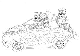 Free Printable Monster High Coloring Pages: Scaris Car with ...