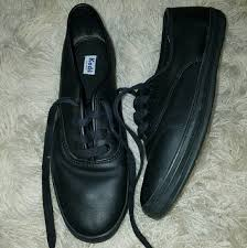 firm keds black leather sneakers