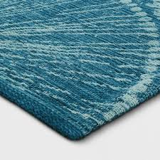 teal accent rug blue medallion woven area opalhouse target 2