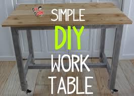 diy desk cost. Build A Simple DIY Work Table Diy Desk Cost I