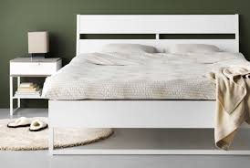 white ikea bedroom furniture. bright modern trysil bedroom furniture featuring a bedside table and bed white ikea h