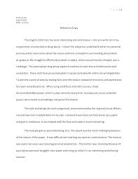 Reflective Essay Format Examples Examples Of A Thesis Statement For A Narrative Essay Thesis