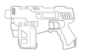 Nerf Gun Coloring Pages Color Bros