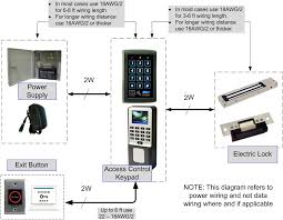 how to install an access control keypad system com figure 1 access control keypad installation wire selection and distances