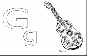 Small Picture Free Coloring Page Guitar