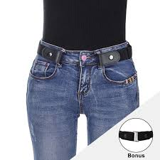 <b>AWAYTR Buckle Elastic</b> Belt For Women Men <b>Free</b> No <b>Buckle</b> ...