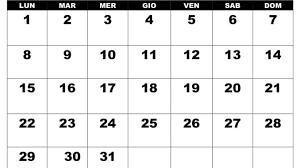 Calendario Iuglio 2019 Da Stampare