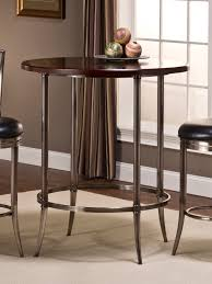 hillsdale maddox antique nickel bar height bistro table