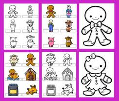 Gingerbread Man Activities Free Mini Book Finger Puppets Word Wall Cutouts