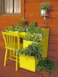 desk garden. Perfect Garden Turn And Old Computer Desk Into A Tiered Planter For Your Garden Or Patio   DIY Repurpose Reuse Recycle In Desk Garden