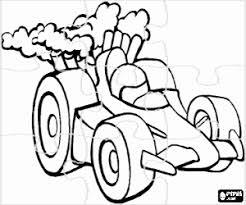 Kleurplaat Puzzel Van Race Auto Kleurplaten