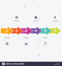Vector Arrows Infographic With 5 Options Stock Vector Art