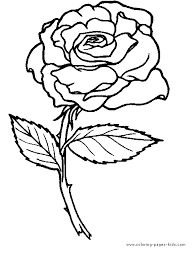 best printable rose coloring pages for kids free 2942 printable flower page printable coloring sheets