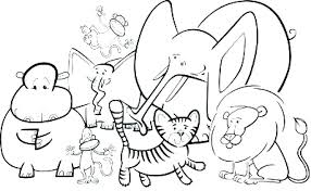 Zoo Coloring Page Halloween Coloring Pages For Kids Gingerluclub