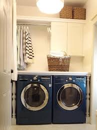 Clean Fresh Laundry Room Ideas Small Spaces Washer Looks Stacked Tension  Rod Color Tips Behind Simple