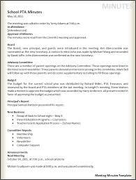 Example Minutes Format Under Fontanacountryinn Com