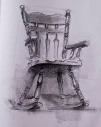 rocking chair drawing. two-point perspective...a drawing of a rocking chair
