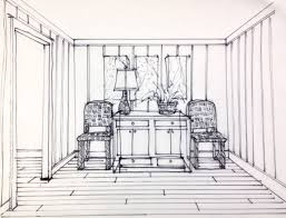 Interior Sketch One Point Perspective