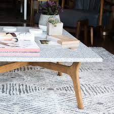 diy stone top coffee table design sponge