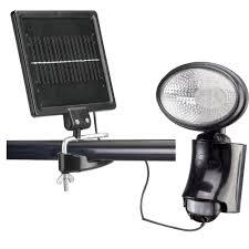 Classy Caps Outdoor Black Solar Motion Sensor Security LightSL500 Solar Sensor Security Light