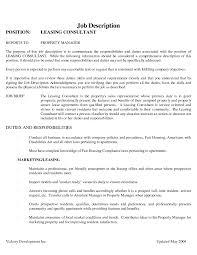 Resume Template Mesmerizing Leasing Manager Resume Sample