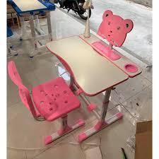 Bàn học chống gù chống cận A601 bàn học thông minh bàn học cho trẻ nâng hạ  độ cao mặt bàn và ghế tùy ý có đèn led, Giá tháng 12/2020