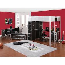 Rock N Roll Bedroom Kids Bed Rooms Rock And Roll Full Study Loft Bed From Powell