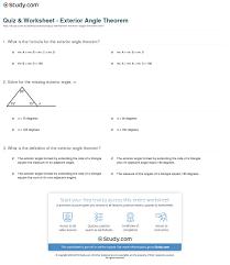 exterior angle inequality theorem worksheet. print exterior angle theorem: definition \u0026 formula worksheet inequality theorem e