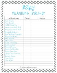 Baby Tracker Chart Free Printable Baby Milestone Tracker The Savvy Bump