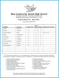Student Report Card Template Student Report Card Template