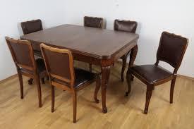 Gründerzeit Essgarnitur Esstisch Und 6 Stühle Aus Massivem Nussbaum Um 1910