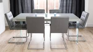 real leather swing dining chairs and floating dining table