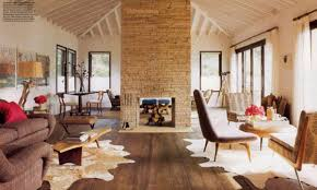 Awesome Stone Fireplace Design For Cozy Living Room : Cozy Sloping Ceiling  Open Space Living Room