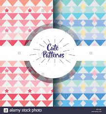 Cute Patern Abstract Geometric Background Design Stock