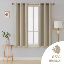 Glass Door Designs For Living Room Deconovo Thermal Insulated Blacktout Curtains Rod Pocket For Living Room Glass Door 42x54 Inch Beige Set Of 2