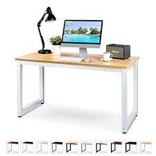 White work desk Computer Desk Luxxetta Office Computer Desk 55 23 Beige Laminated Wooden Particleboard Table And Amazoncom Amazoncom Luxxetta Office Computer Desk 55 23 Beige