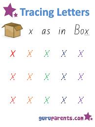 alphabet worksheets handwriting lower case letter x