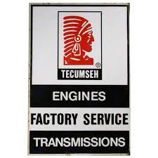 Tecumseh Engines Factory Service Steel Sign