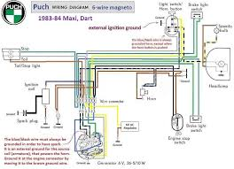 cf moto 500 wiring diagram cf wiring diagrams puch wiring diagram 1983 84 6 wire magneto chrome switches cf moto