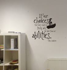 harry potter our choices quote vinyl wall decal lettering abilities sorting hat on wall art stickers quotes ebay with harry potter wall decal ebay