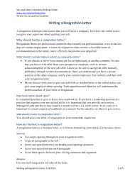 100 Job Resignation Template Resignation Letter Samples