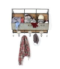 wall rack with hooks wall storage with hooks rustic wood and metal wall storage pockets with wall rack