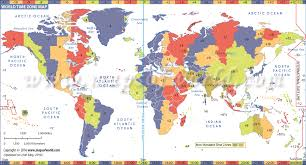 Time Map World Time Zone Map List Of Time Zones Of All Countries