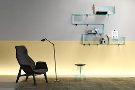 View in gallery Modern wall-mounted glass shelving