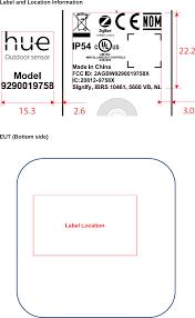Philips Lighting Layout Tool 9290019758x Hue Outdoor Sensor Label Diagram Label Philips