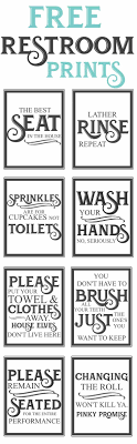 Free Vintage Bathroom Printables  Farmhouse Style Funny Quotes Printable Keep Bathroom Clean Signs