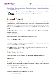 Purdue Owl Apa Formatting And Style Guide American Psychological