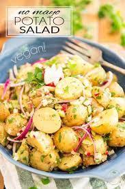 no mayo vegan potato salad the