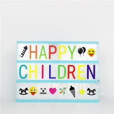 lovely led a4 blue cinema light box diy letter hang on kid bedroom wall night lamp
